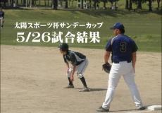 5/26 太陽スポーツ杯サンデーカップ試合結果更新