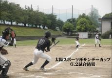 6/2太陽スポーツ杯サンデーカップ試合結果