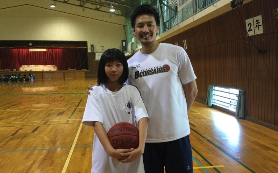 堀川 竜一選手バスケットボールクリニック in 速星中女子バスケ部!