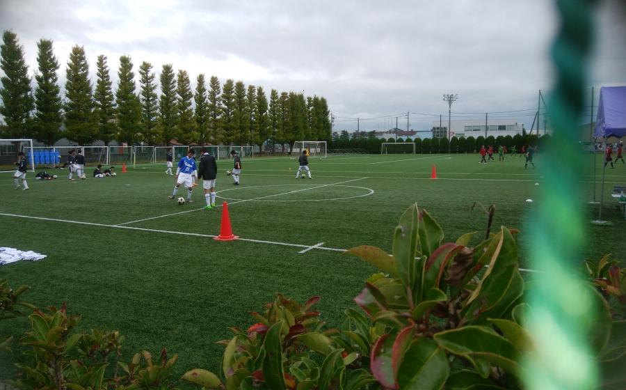 高校サッカー選手権2回戦、魚津高校対中部高校戦に行ってきました。