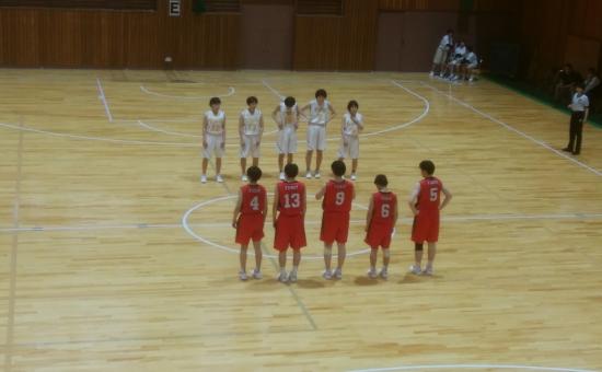 北信越高校バスケ大会応援。
