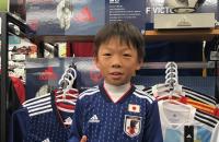 サッカー日本代表新レプリカシャツ当選者ご来店!!