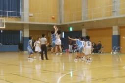 三日目、会長杯中学バスケ大会