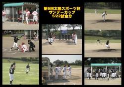 第6回太陽スポーツ杯サンデーカップ5/22試合分結果及び試合日程のお知らせ