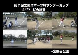 【正式】第7回太陽スポーツ杯サンデーカップ更新