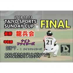 第8回太陽スポーツ杯サンデーカップ最終戦