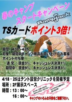 春のキャンプ スタートキャンペーン